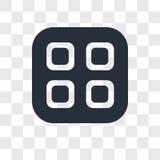 Значок вектора меню изолированный на прозрачной предпосылке, дизайне логотипа меню иллюстрация вектора