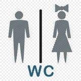Значок вектора обозначая человека и женщины, символа Иллюстрация изолированная на светлой предпосылке иллюстрация вектора