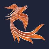 Значок вектора логотипа Феникса Стоковое Изображение RF
