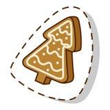Значок вектора печенья рождества изолированный тортом иллюстрация вектора