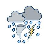 Значок вектора плохой погоды иллюстрация вектора