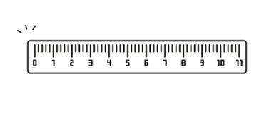 Значок вектора правителя Стоковое фото RF