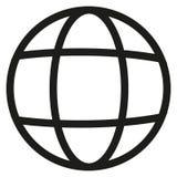 Значок вектора проведенной в земле кабельной линии Стоковые Фото