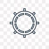 Значок вектора рулетки изолированный на прозрачной предпосылке, линейной бесплатная иллюстрация