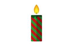 Значок вектора свечи рождества плоский Иллюстрация вектора