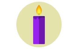 Значок вектора свечи рождества плоский иллюстрация штока