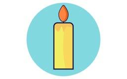 Значок вектора свечи рождества плоский Стоковые Изображения