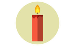 Значок вектора свечи рождества плоский Стоковые Изображения RF