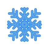 Значок вектора снежинки на предпосылке Whiite Стоковое фото RF