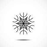 Значок вектора снежинки Стоковые Фото
