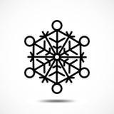 Значок вектора снежинки Стоковая Фотография RF