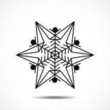 Значок вектора снежинки Стоковое Фото