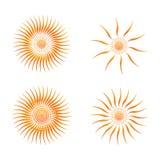 Значок вектора Солнця Стоковые Изображения