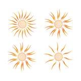 Значок вектора Солнця Стоковое Изображение