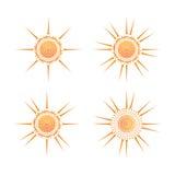 Значок вектора Солнця Стоковые Изображения RF