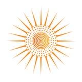 Значок вектора Солнця Стоковые Фото