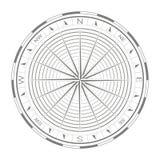 Значок вектора с лимбом картушки компаса Стоковое Фото