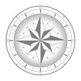 Значок вектора с лимбом картушки компаса Стоковые Изображения RF