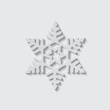 Значок вектора формы снежинки Стоковая Фотография RF