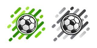 Значок вектора футбольного мяча на абстрактной предпосылке Значок вектора шарика футбола бесплатная иллюстрация