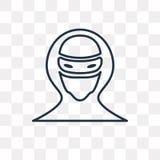 Значок вектора хакера на прозрачной предпосылке, линейном Ha бесплатная иллюстрация