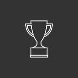 Значок вектора чашки трофея плоский в линии стиле Стоковое Изображение