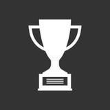 Значок вектора чашки трофея плоский Стоковое Изображение