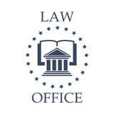 Значок вектора юридического офиса книги, предсердия и звезд иллюстрация штока