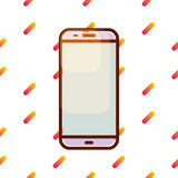 Значок вектора Smartphone на картине Мемфиса градиента Стоковое Фото