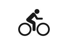 Значок велосипеда на белой предпосылке Стоковое фото RF