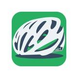 Значок велосипеда шлема Стоковые Изображения