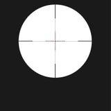 Значок визирования перекрестия, перекрещение с красной точкой Завизируйте символ снайпера изолированный на белой предпосылке, илл Стоковое фото RF
