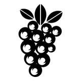 Значок виноградины вина, простой стиль бесплатная иллюстрация