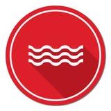 Значок волн воды Стоковые Изображения