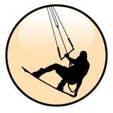 Значок всадника Kiteboarding Стоковое Изображение