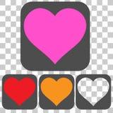 Значок влюбленности вектора с прозрачной предпосылкой Стоковое Изображение