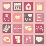 значок влюбленности Стоковое Изображение RF