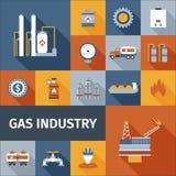 Значок газа плоский Стоковые Изображения RF