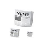 Значок газеты вектор Стоковое Изображение RF