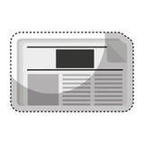 значок газеты ежедневно изолируемый бесплатная иллюстрация