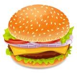 Значок гамбургера иллюстрация штока