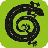 Значок гекконовых Стоковое Изображение