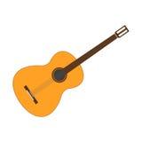 Значок гитары также вектор иллюстрации притяжки corel Стоковые Фотографии RF