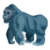 Значок гориллы, стиль шаржа иллюстрация вектора