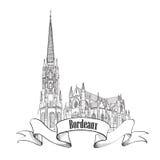Значок города Франции. Изолированный ориентир ориентир Бордо Стоковые Изображения