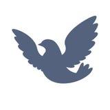 Значок голубя Силуэт голубя Стоковая Фотография RF