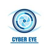 Значок глаза кибер также вектор иллюстрации притяжки corel Стоковые Изображения