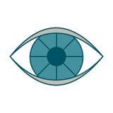 Значок глаза цвета иллюстрация вектора