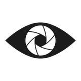 Значок глаза штарки схематический плоский абстрактный Стоковая Фотография RF