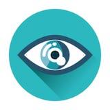 Значок глаза иллюстрация вектора